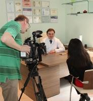 Александр Грудько дает интервью