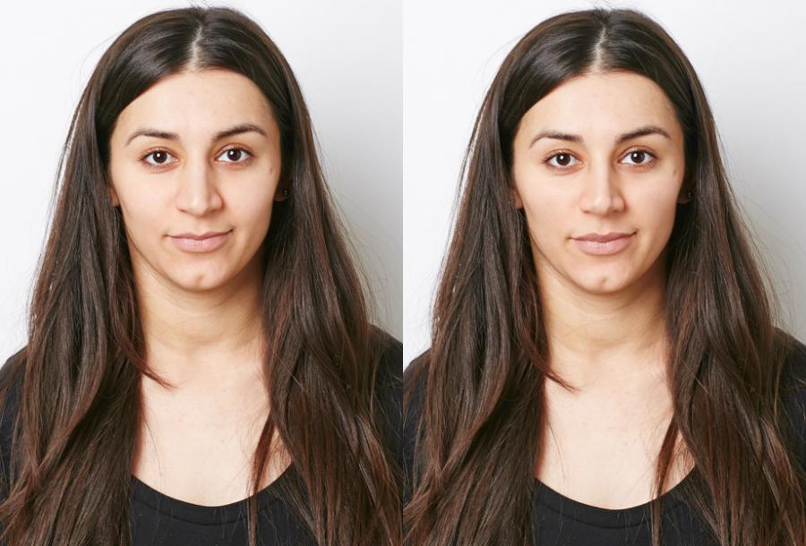Сабина Агаева, редактор ELLE. Фото до и после эксперимента