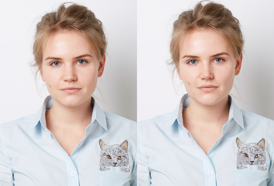 Мария Кулакова, редактор  ELLE. Фото до и после эксперимента
