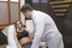 Наталья в компрессионном белье на послеоперационном осмотре