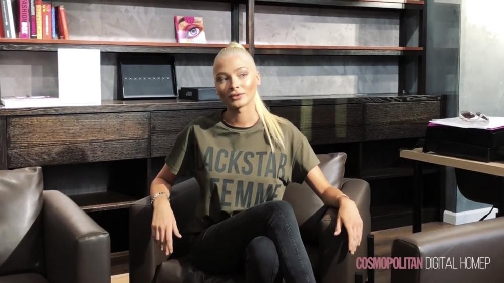Алена Шишкова дает интервью