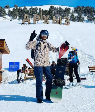 Георгий Чемянов и сноуборд