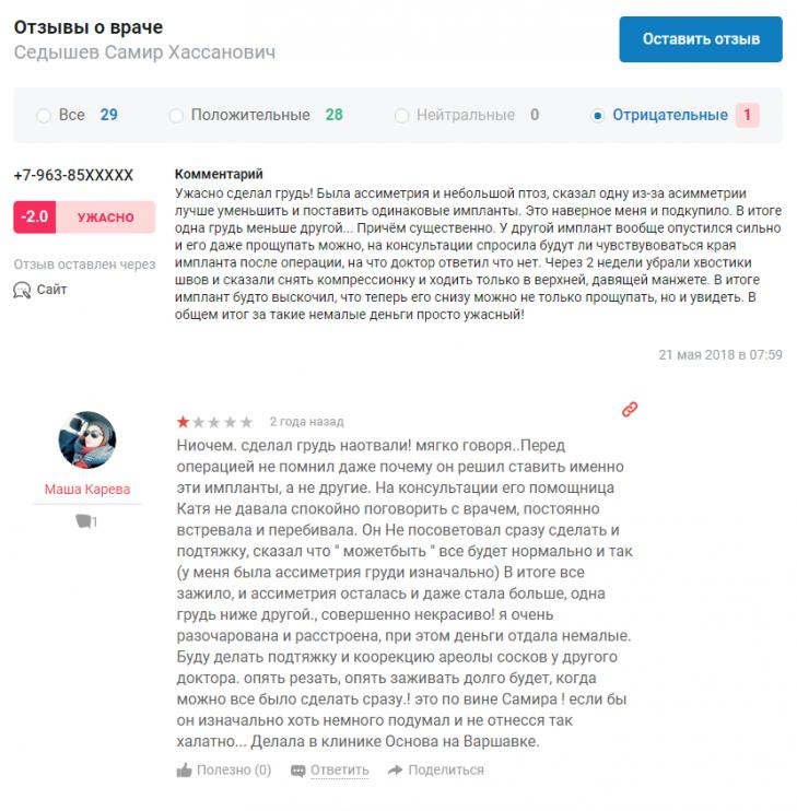 Самир Седышев отрицательные отзывы