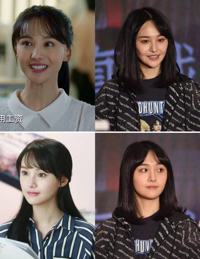 Китайская актриса Чжэн Шуан до и после очередной пластической операции на лице в 2019 году