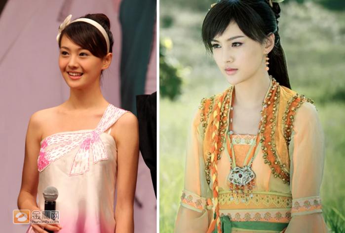 Актриса Чжэн Шуан до и после первой пластической операции