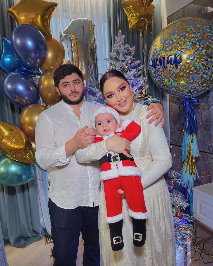 Гоар Аветисян с мужем и ребенком
